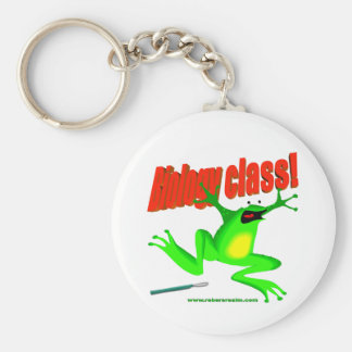 Biology class frog key chains