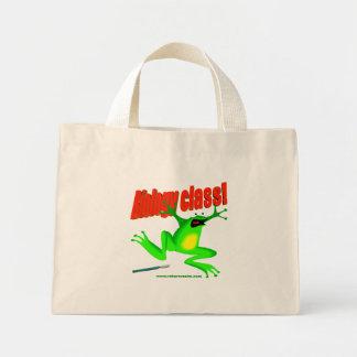 Biology class frog mini tote bag