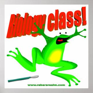 Biology class frog poster