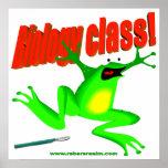 Biology class frog print
