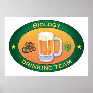 Biology Drinking Team Poster