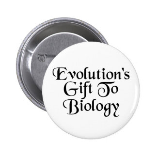 Biology Evolution Humor Button