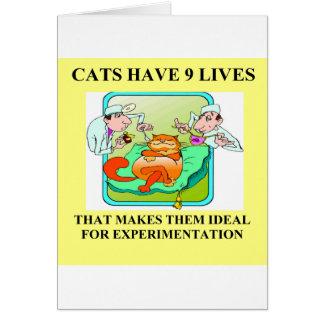 biology experiment joke card