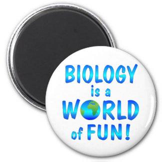 Biology Fun 2 Inch Round Magnet