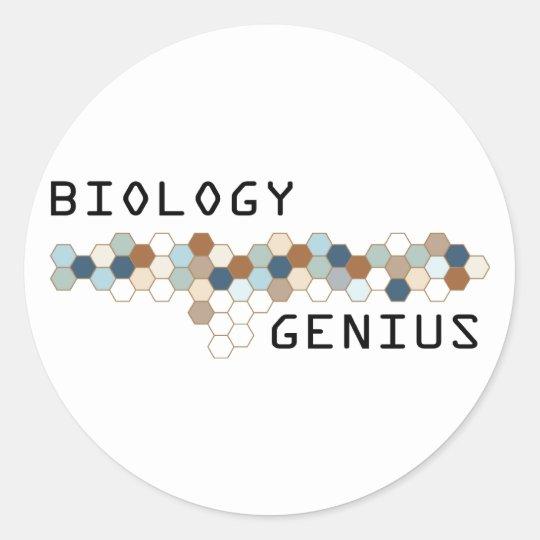 Biology Genius Classic Round Sticker