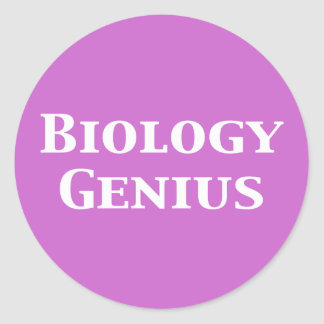 Biology Genius Gifts Classic Round Sticker