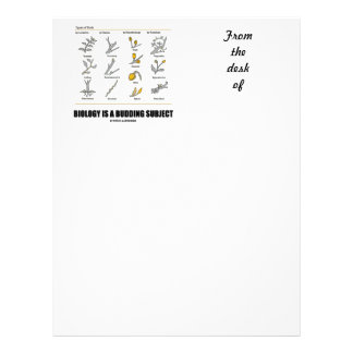 Biology Is A Budding Subject (Types Of Buds) Custom Letterhead