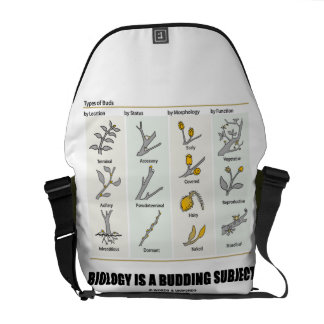 Biology Is A Budding Subject (Types Of Buds) Messenger Bag