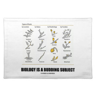 Biology Is A Budding Subject (Types Of Buds) Placemat