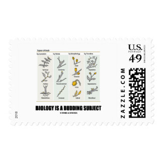 Biology Is A Budding Subject (Types Of Buds) Postage