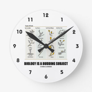 Biology Is A Budding Subject (Types Of Buds) Round Clock