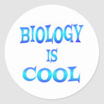 Biology is Cool Classic Round Sticker