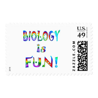Biology is Fun Postage Stamps