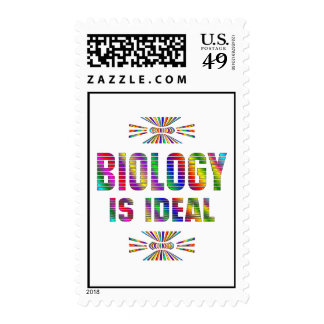 Biology is Ideal Postage Stamp