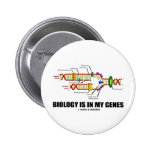 Biology Is In My Genes (DNA Replication) Pinback Buttons
