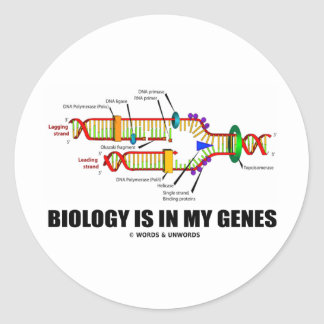 Biology Is In My Genes (DNA Replication) Stickers