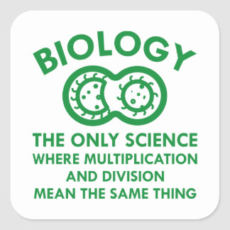Biology Is In My Genes Square Sticker