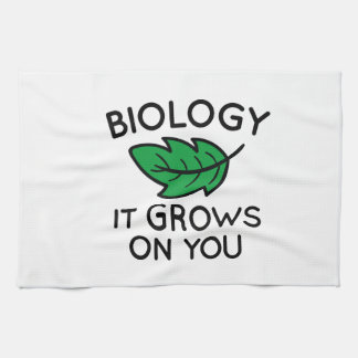 Biology It Grows On You Hand Towel