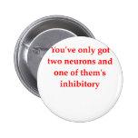 biology joke pinback button