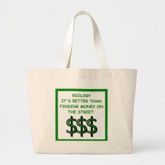 biology large tote bag