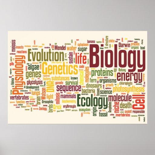 Biology Latte Wordle Posters