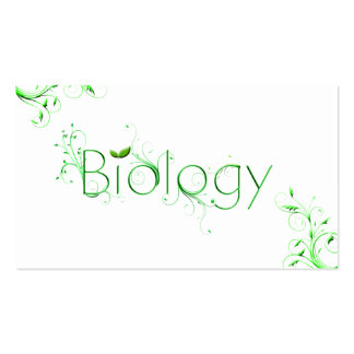 Biology Leaf Typography Business Cards
