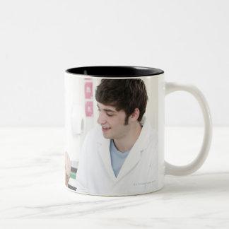 Biology lesson. 3 Two-Tone coffee mug