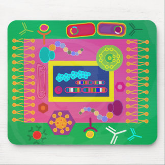 Biology mousepad - Matisse style