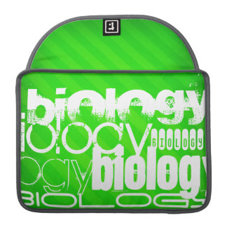 Biology; Neon Green Stripes Sleeve For MacBook Pro