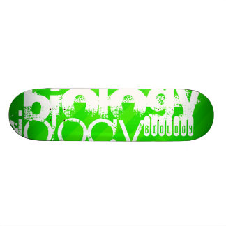 Biology; Neon Green Stripes Skate Board