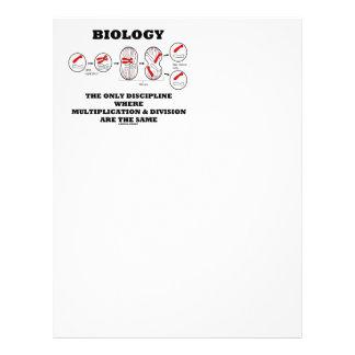 Biology Only Discipline Multiplication Division Letterhead