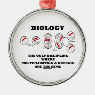 Biology Only Discipline Multiplication Division Metal Ornament