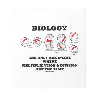 Biology Only Discipline Multiplication Division Notepad
