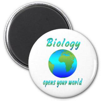 Biology Opens Worlds 2 Inch Round Magnet