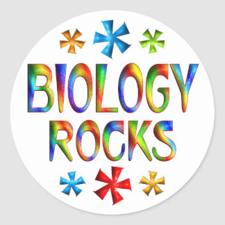 BIOLOGY ROCKS CLASSIC ROUND STICKER