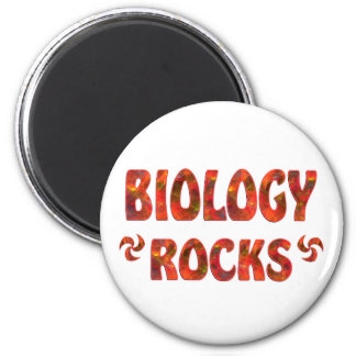 BIOLOGY ROCKS 2 INCH ROUND MAGNET