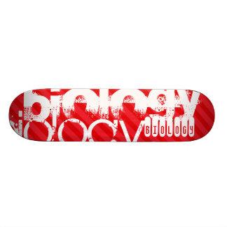 Biology; Scarlet Red Stripes Skateboard Deck