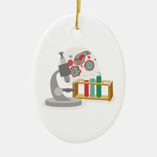 Biology Science Double-Sided Oval Ceramic Christmas Ornament