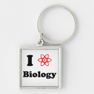 Biology Silver-Colored Square Keychain