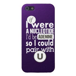 Biology slogan nucleotide adenine uracil case for iPhone SE/5/5s