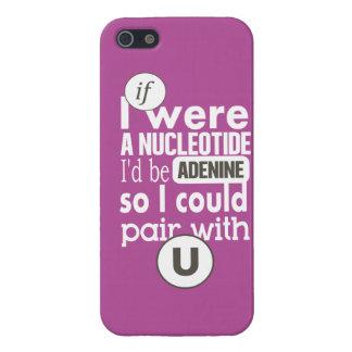 Biology slogan nucleotide adenine uracil cover for iPhone SE/5/5s