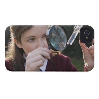 Biology student studying plant iPhone 4 case