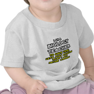 Biology Teacher...Assume I Am Never Wrong T Shirt