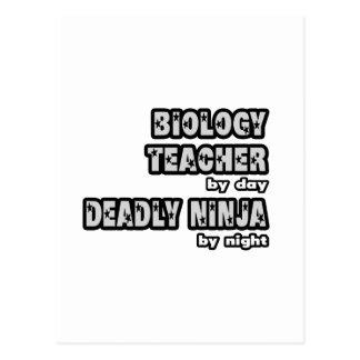 Biology Teacher By Day...Deadly Ninja By Night Postcard