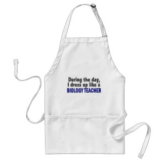 Biology Teacher During The Day Adult Apron