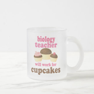 Biology Teacher (Funny) Gift 10 Oz Frosted Glass Coffee Mug