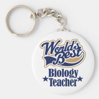 Biology Teacher Gift For (Worlds Best) Basic Round Button Keychain
