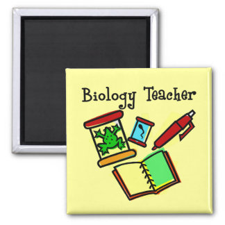 Biology Teacher Gifts 2 Inch Square Magnet