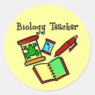 Biology Teacher Gifts Classic Round Sticker
