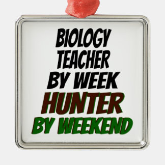 Biology Teacher Hunter Christmas Tree Ornaments